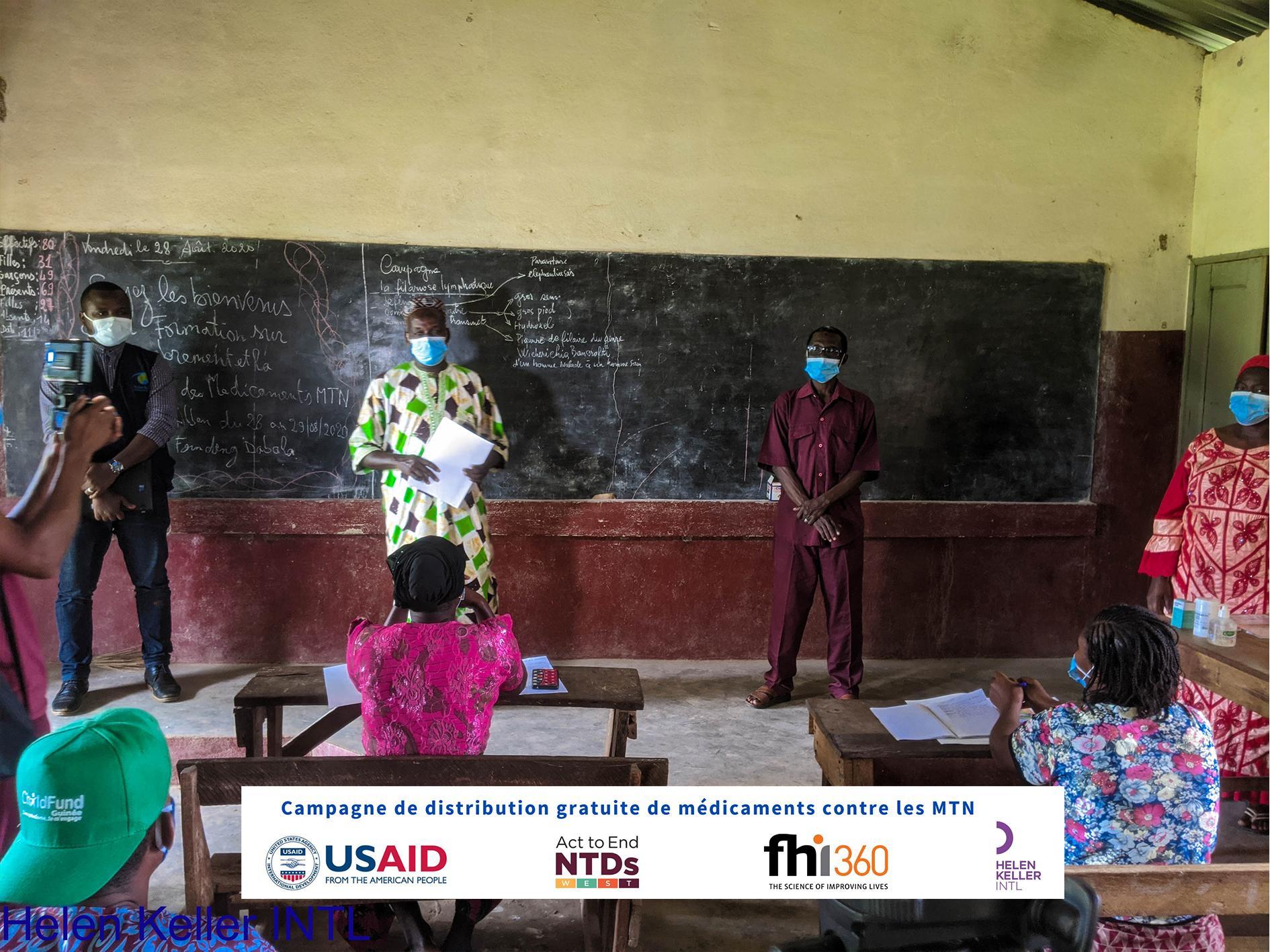 Training of community NTD medicine distributors in Dabola. Photo: HKI/Guinea