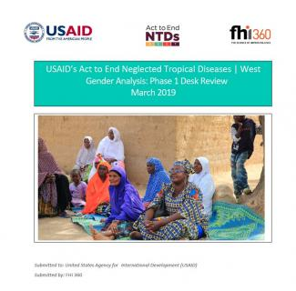 USAID's Act to End NTDs | West Program Gender Phase One Report Cover