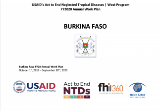 Burkina Faso FY2020 Act to End NTDs | West Program Work Plan