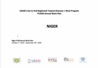 Niger FY2020 Act to End NTDs | West Program Work Plan