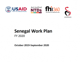 Senegal FY2020 Act to End NTDs | West Program Work Plan Cover