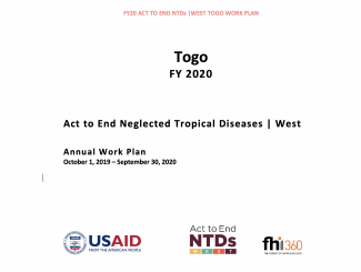 Togo FY2020 Act to End NTDs | West Program Work Plan